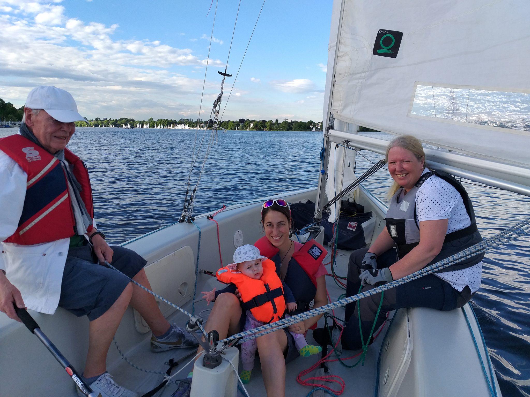 Baby und Routinier an Bord